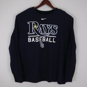 Tampa Bay Devil Rays Nike Blue T Shirt Mens XXL